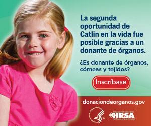 La segunda oportunidad en la vida de Caitlin fue posible gracias a un donante de órganos