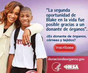 Mi segunda oportunidad en la vida fue posible gracias a un donante de órganos. ¿Es donante de órganos, córneas y tejidos?